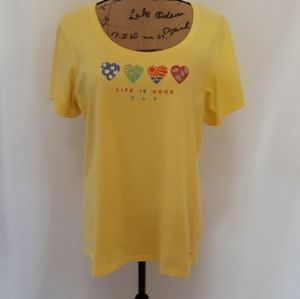 Life Is Good crusher tee, NWOT large